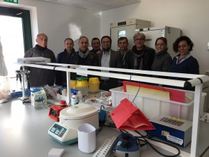 Dr Hassan with Turkish commercial delegates, showcasing Russell IPM's pheromone-enhanced traps in Bari, Italy