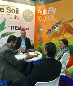 Russell IPM account Managers negotiating at the stand at Fruit Logistica 2017